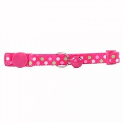 PAWISE Pink Spotty Cat Collar - My Cat and Co.