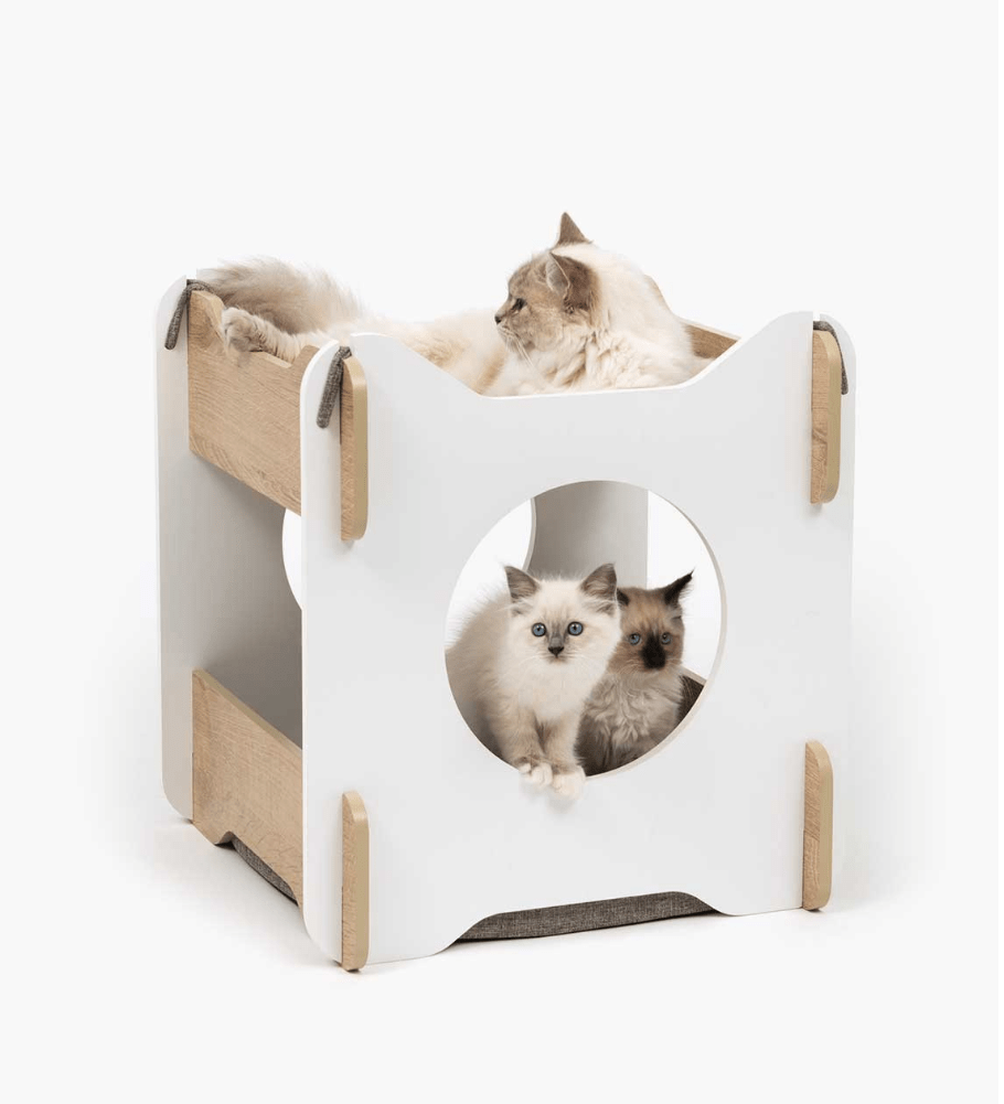 Premium Cat Furniture Cabana White - My Cat and Co.