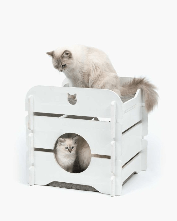 Premium Cat Furniture Cottage White - My Cat and Co.