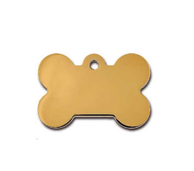ID Tag Bone Brass - My Pooch and Co.