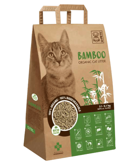 M-Pets Bamboo Organic & Biodegradable Cat Litter 5lt - My Cat and Co.