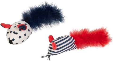 KYLIE'S Nautical Mouse with Feather (pack of 2) - My Cat and Co.