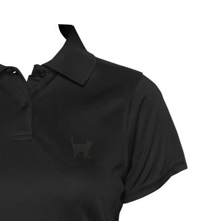 Women's Polo Top Black - My Cat and Co.