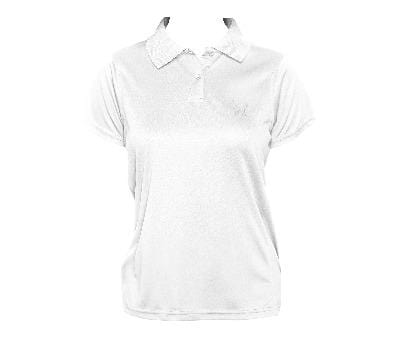Cat Embroidered Women's Polo Top White - My Cat and Co.