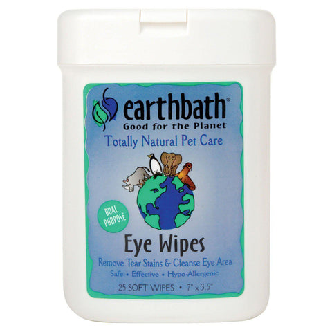 Earthbath Hypoallergenic Fragrance Free Eye Wipes 25pcs - My Cat and Co.