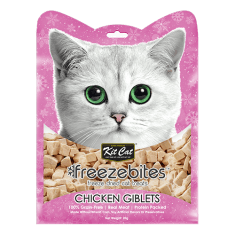 KITCAT Freezebites Dried Chicken Giblets 20g - My Cat and Co.