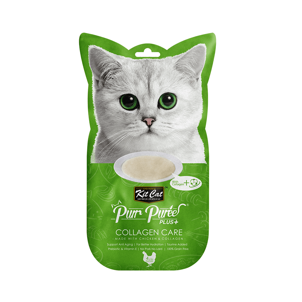 Puree Plus Collagen Care Chicken 60g - My Cat and Co.