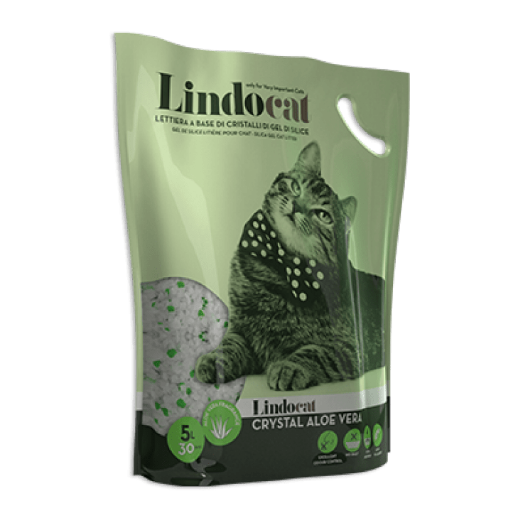 Lindocat Crystal Silicagel Aloe Vera 5lt - My Cat and Co.
