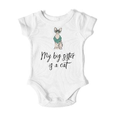 BIG SISTER Short Sleeve Bodysuit - My Cat and Co.