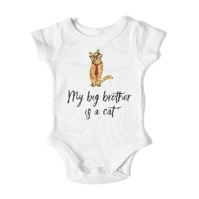 BIG BROTHER Short Sleeve Bodysuit - My Cat and Co.