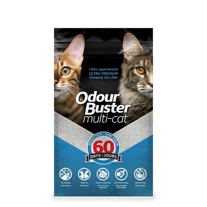 ODOUR BUSTER Multi-cat Litter 12kg - My Cat and Co.