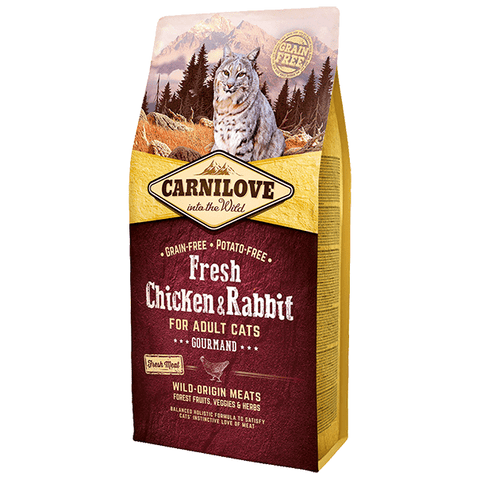CARNILOVE Adult with Fresh Chicken & Rabbit 2kg - My Cat and Co.
