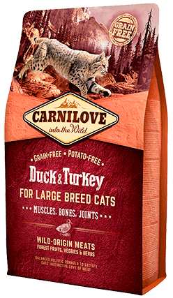 Duck & Turkey For Large Breed 2kg - My Cat and Co.