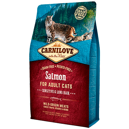 CARNILOVE Adult with Salmon 2kg - My Cat and Co.
