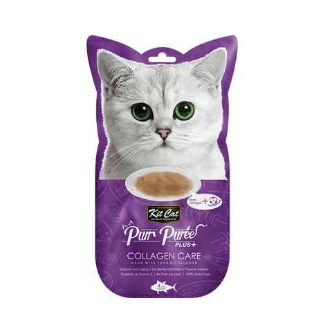 Puree Plus Collagen Care Tuna 60g - My Cat and Co.