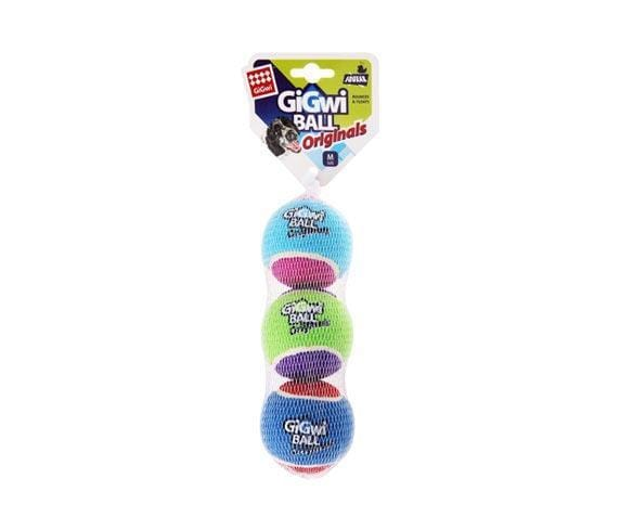 GiGwi Tennis Balls Medium (3 pcs) - My Pooch and Co.