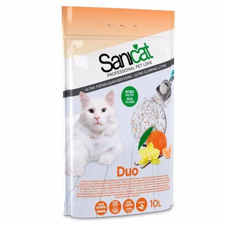 SANICAT Duo White 10lt - My Cat and Co.
