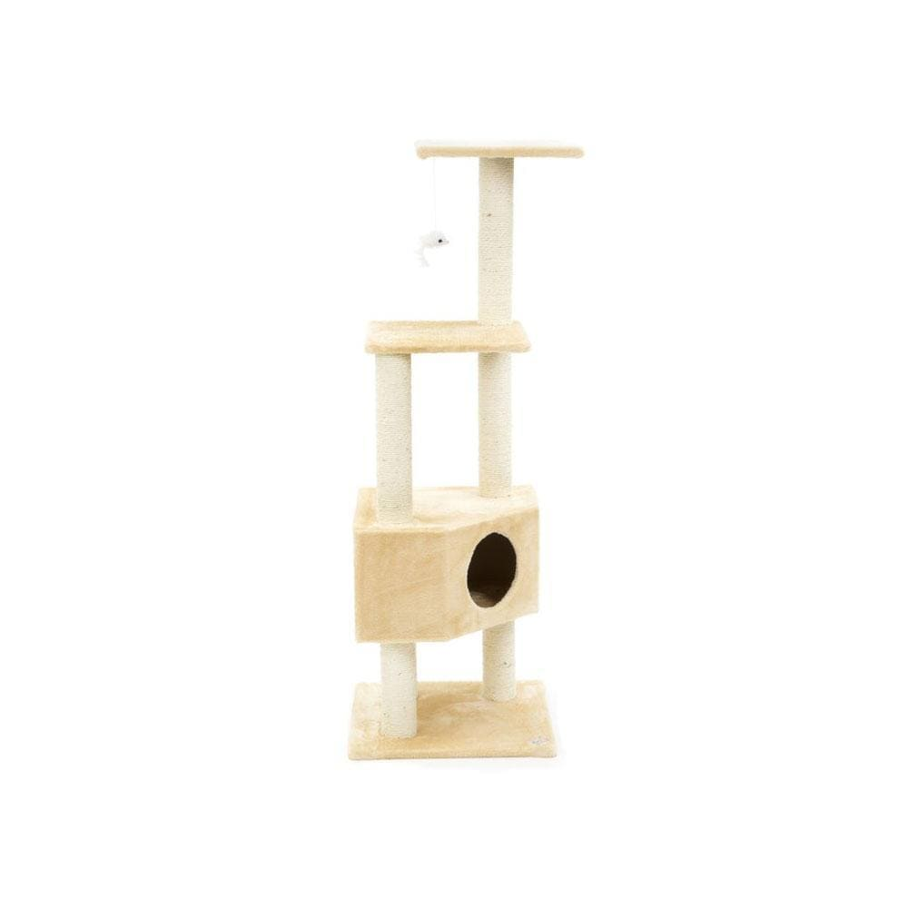 Go Pet Club Cat Tree (Size 48Wx48Lx130H) - My Cat and Co.