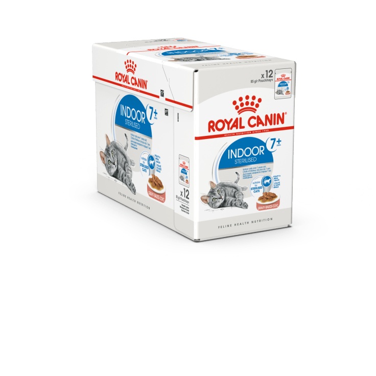 ROYAL CANIN Indoor 7+ in Gravy (12x85g) - My Cat and Co.