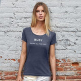 BUSY Women's Round Neck T-Shirt - My Cat and Co.