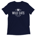 WILD CATS Men's Triblend T-Shirt - My Cat and Co.