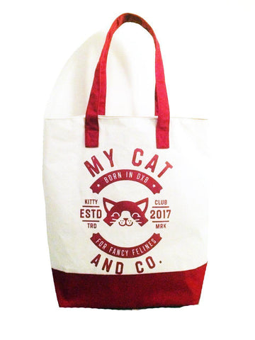 The Ultimate Beach Tote Red - My Cat and Co.