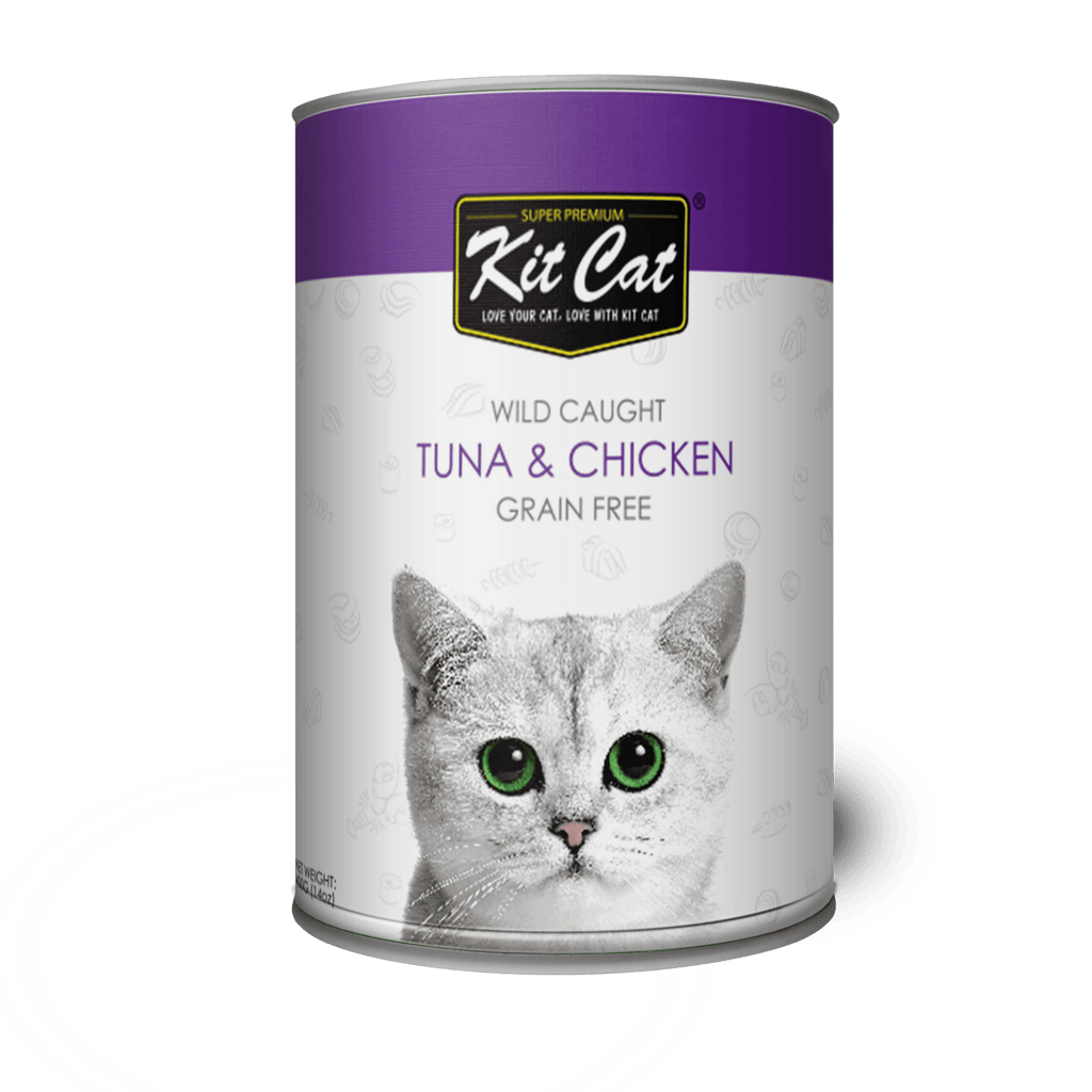 KITCAT Wild Caught Tuna & Chicken 400g - My Cat and Co.