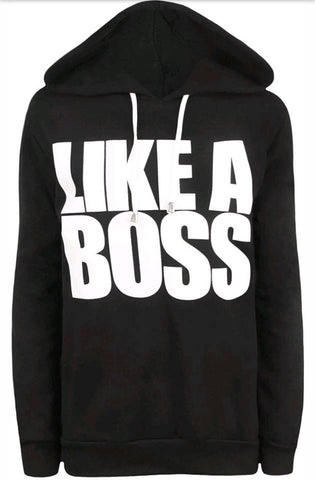 Black Like a Boss Slogan Hoodie