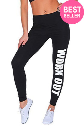 Black & White Work Out Leggings - Need That Style