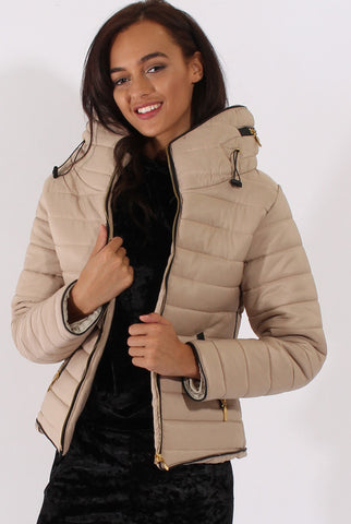 Zara Beige Padded Coat - Need That Style