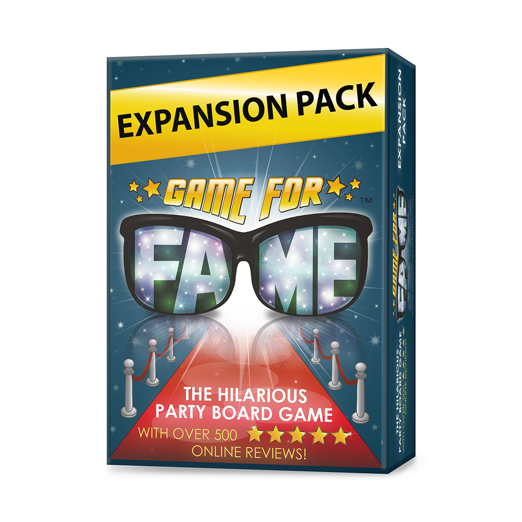 Game for Fame Expansion Pack: 130 Hilarious New Money Maker Challenge Cards to use with Game for Fame, the Board Game for Families, Friends, Adults, Teens!