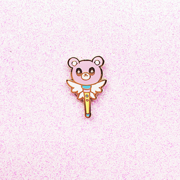 MAGICAL BEAR WAND ENAMEL PIN
