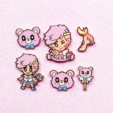 MAGICAL BOY COMPLETE ENAMEL PIN SET