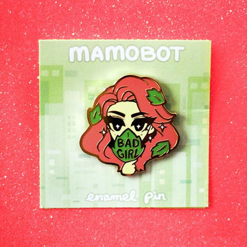 BAD GIRL POISON IVY ENAMEL PIN