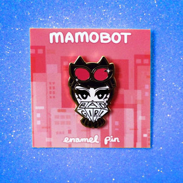 BAD GIRL CAT WOMAN ENAMEL PIN
