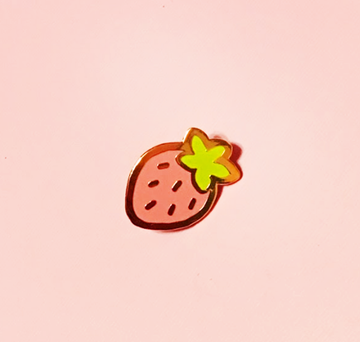 STRAWBERRY ENAMEL PIN