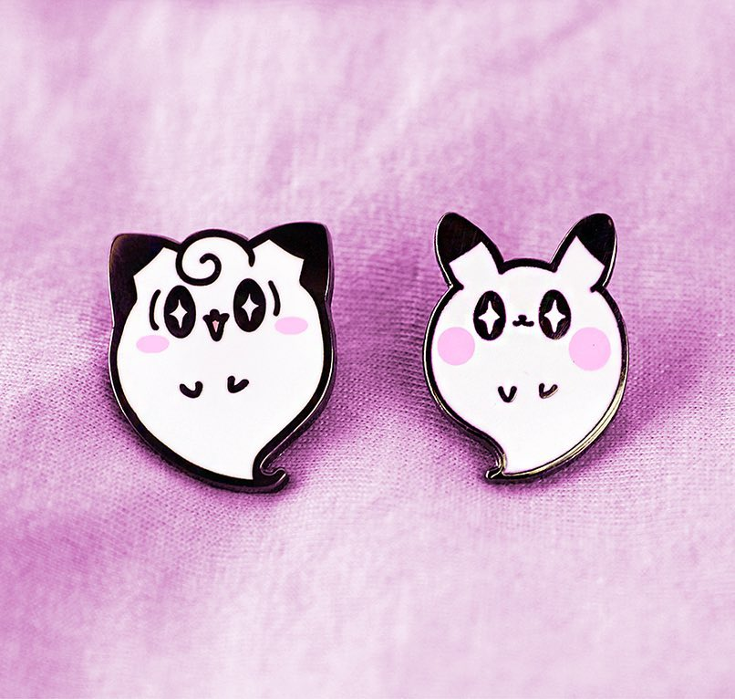 POKE GHOSTS ENAMEL PINS [LIMITED EDITION]