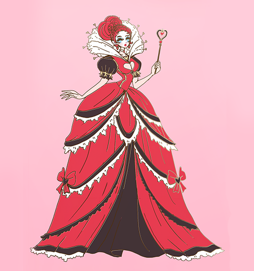 FASHION QUEEN OF HEARTS ENAMEL PIN [WONDERLAND] PREORDER [LIMITED EDITION]