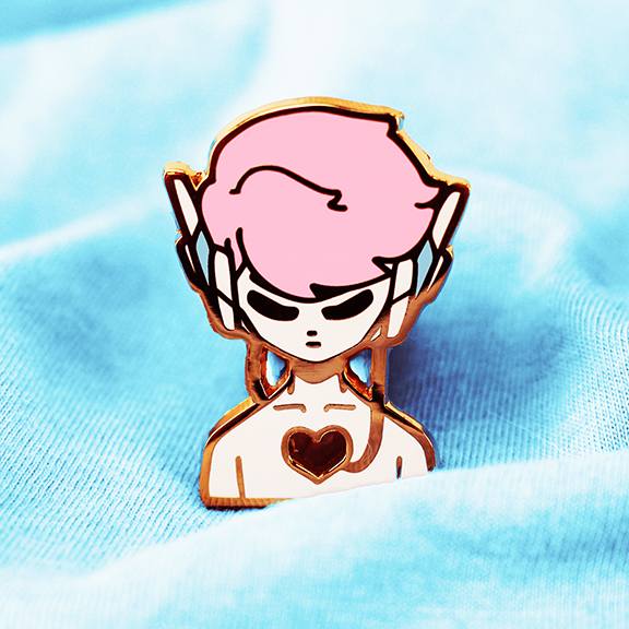 ANDROID BOY ENAMEL PIN