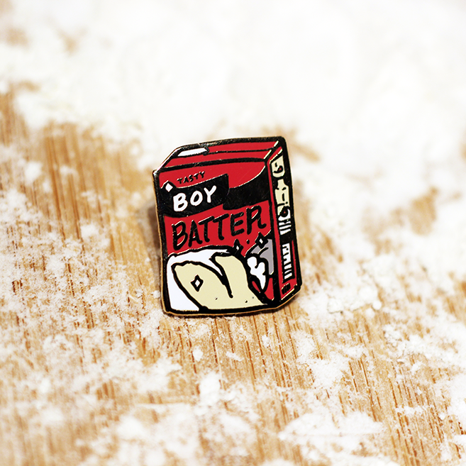 BOY BATTER ENAMEL PIN