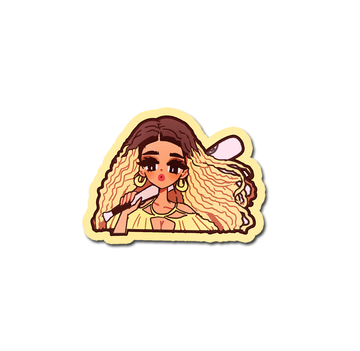 VINYL STICKER POP GIRL BEY