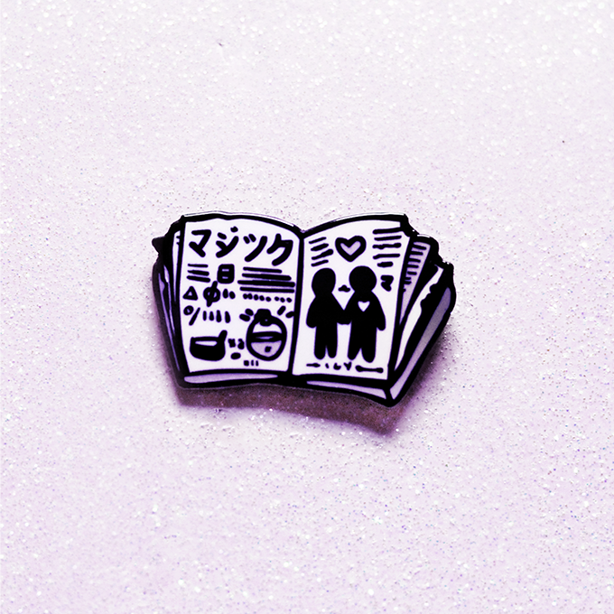 LOVE SPELLBOOK ENAMEL PIN [FALL 2017]