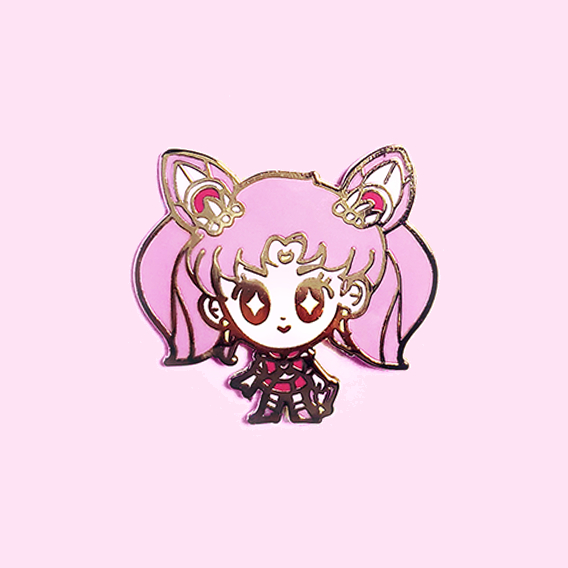 CHIBI MOON SENSHI DOLL ENAMEL PIN