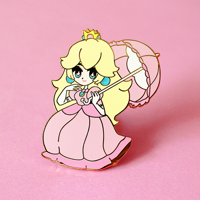 CHIBI PRINCESS PEACH ENAMEL PIN