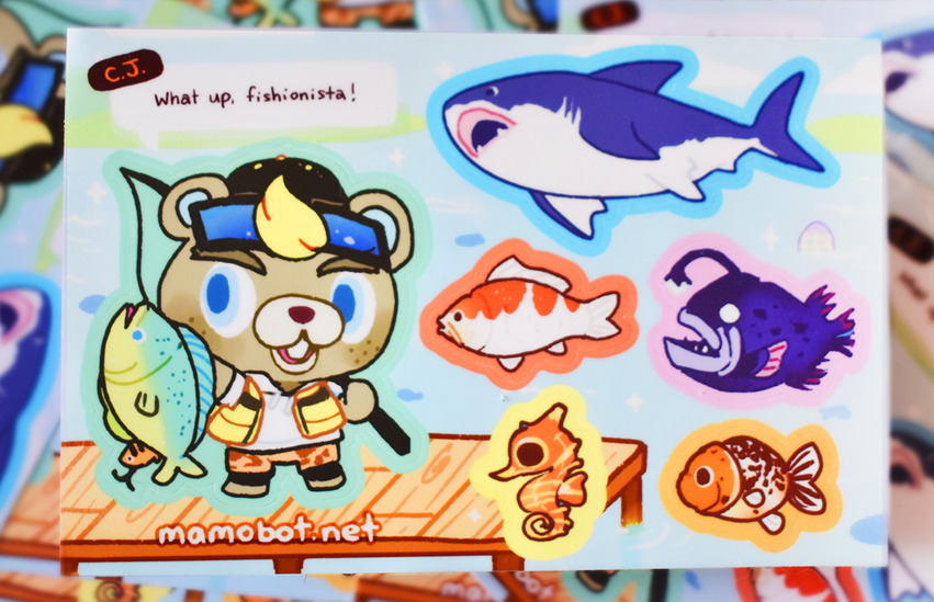 CJ & FRIENDS STICKER SHEET