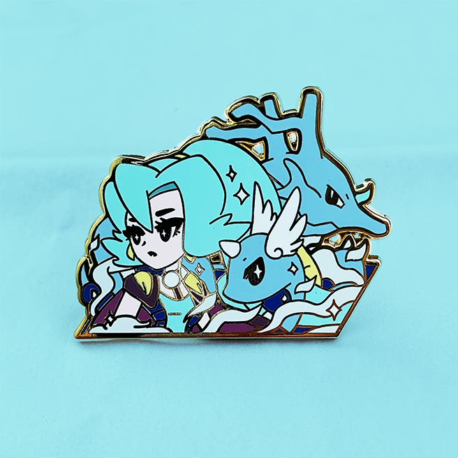 GYM LEADER CLAIR ENAMEL PIN