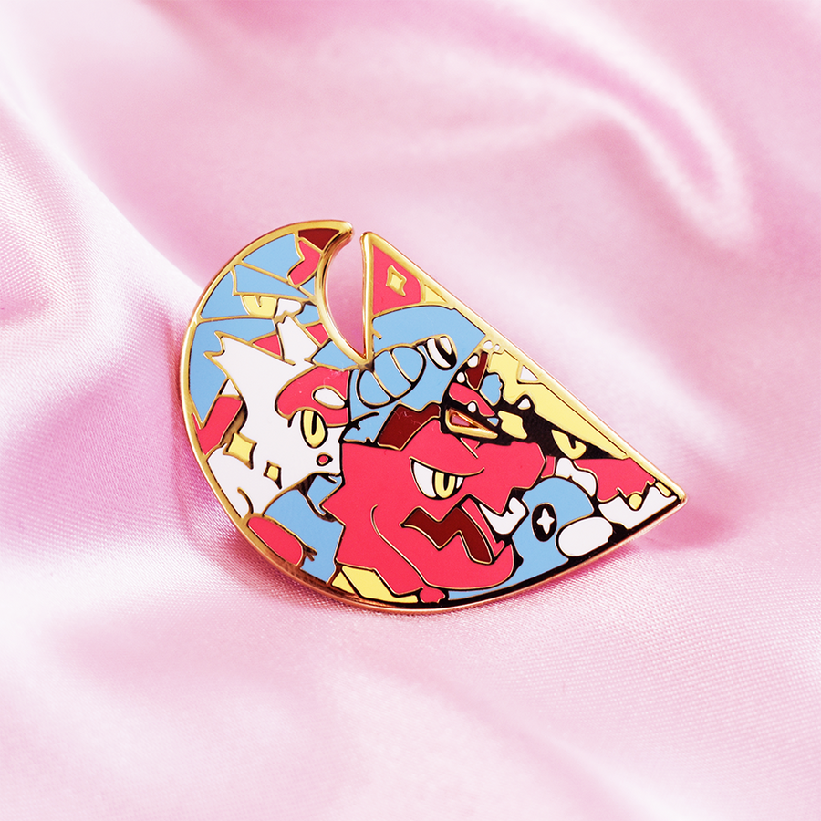 DRAGON POKETYPE ENAMEL PIN