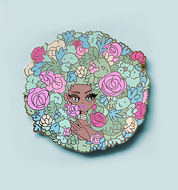 Fleur ENAMEL PIN [AUGUST 2020 PIN CLUB]