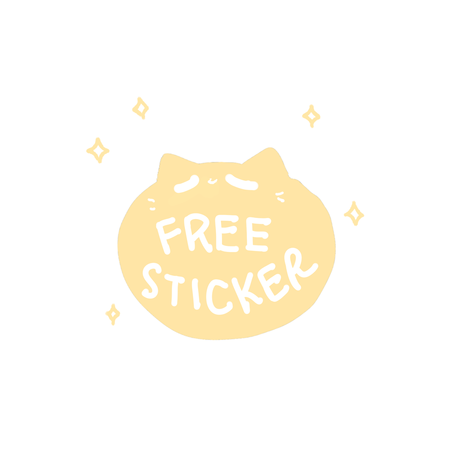 free sticker kitty