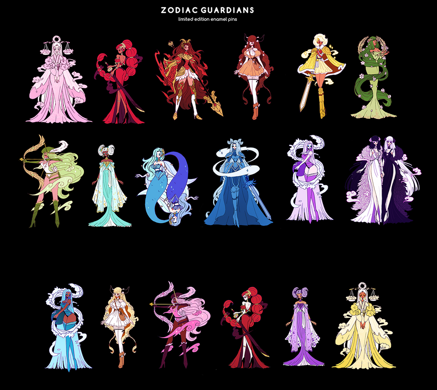 FULL ZODIAC SET WITH VARIANTS [18 PC]  [ZODIAC GUARDIAN] [LIMITED EDITION] [PATREON PREORDER]